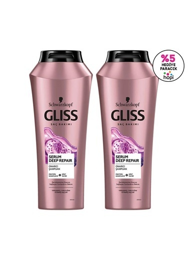 Gliss Serum Deep Repair Onarıcı şampuan 500 Ml 2'Li Renksiz